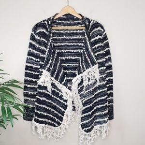 Anthro La Fee Verte | Fringe Open Cardigan Sweater